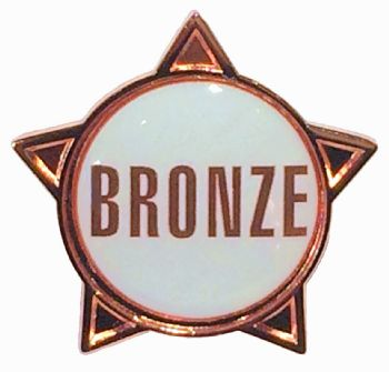 BRONZE (text) star badge
